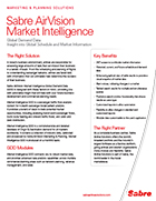 Sabre AirVision Market Intelligence: Global Demand Data